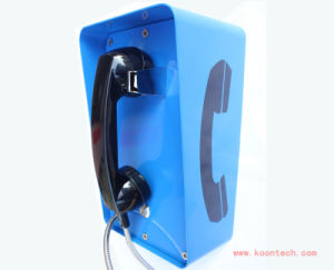 Auto Dial Phone Wall Mount Security Alarm Industrial Telephone Knzd-09A-1t2s pictures & photos