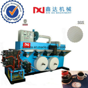 Automatic Counting Paper Cup Type Printer Edge Embosser Tissue Coaster Tray Machine pictures & photos