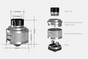 2016 Newest Hcigar Maze Rda with Double Deck Side Airflow Rda Atomizer pictures & photos