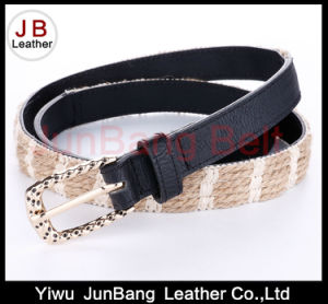 Hot Sell Ladie′s PU Braid Belt pictures & photos