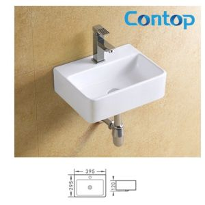 Ceramic Sanitary Ware Wall Hung Basin Wash Basin 8374 pictures & photos