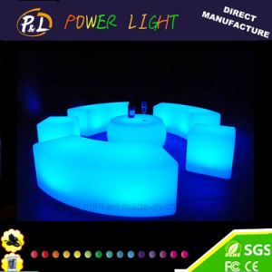 Outdoor Furniture Rechargeable Colorful LED Lighted Snake Bench pictures & photos