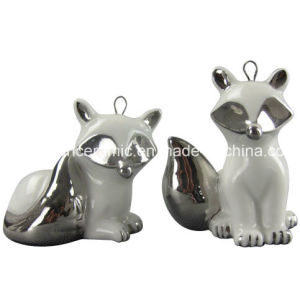 Plating Ceramic Fox Hanging Pendant for Home Decoration pictures & photos