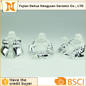 Plating Chinese Antique Ceramic Buddha Craft for Home Decoration pictures & photos