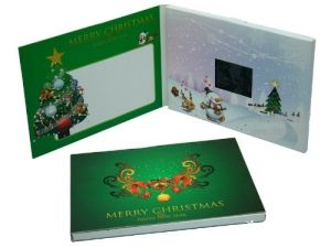 Rechargeable LCD Display Christmas Promotion Electronic Video Greeting Cards (VC-028) pictures & photos