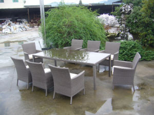 Waterproof Rattan Wicker Table and 8 Chairs Outdoor Furnitures (FS-2065+2066) pictures & photos