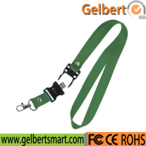 Custom Logo Lanyard USB Flash Drive for Gift pictures & photos