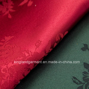 Polyester Quality Jacquard Peony Flower Design Wide Width Table Cloth pictures & photos