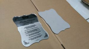Silver Acrylic Mirror Wedding Invitation Cards pictures & photos