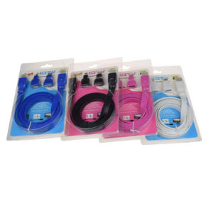 Male to Male Flat HDMI Cable with Mini Micro Adapter pictures & photos