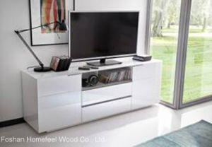 Modern White TV Stand Cabinet in Cheap Cost (HF-EY0823) pictures & photos