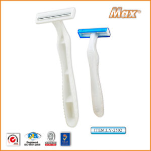 Twin Stainless Steel Blade Disposable Razor Fro Man (LY-2502) pictures & photos