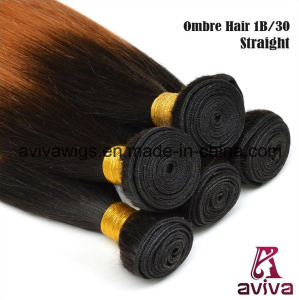 Silky Straight Wave 100% Virgin Hair Ombre Natural Hair Extension pictures & photos