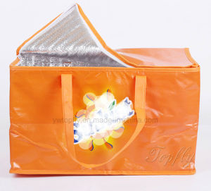 Outdoor Nonwoven Laminated Insulated Lunch Cooler Food Gift Tote Bag pictures & photos