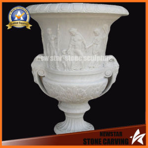 White Stone Carving Flower Pot for Garden or Outdoor Decoration (NS-11P6) pictures & photos