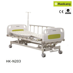 HK-N203 Three Function Manual Hospital Bed (medical bed/medical equipment/patient bed) pictures & photos