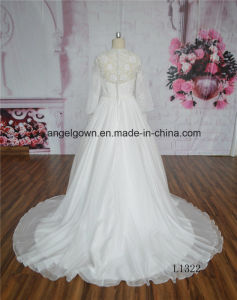Elegant Ball Gown Wedding Dress Long Sleeve pictures & photos