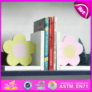 2015 New Wooden Flower Bookend, Hot Sale Wood Flower Bookend, Lovely Bookend Flower Wooden W08d052A pictures & photos