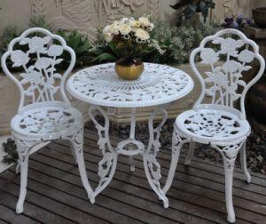 Garden Rose 3PC Bistro Sets Cast Aluminum Furniture pictures & photos
