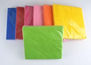 Wood Pulp Paper Napkin, Party Napkin, 1/4 Folding Serviette, Plain Colour