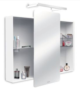 Lacquer Bathroom Cabinet with Silver Mirror and Many Storage pictures & photos