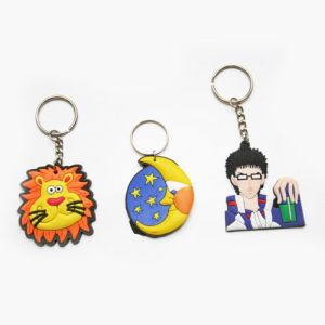 Promotion Gift Carton Silicone Key Chain Key Ring pictures & photos