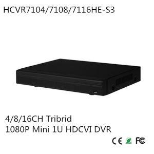 4/8CH Tribrid 1080P Mini 1u Hdcvi DVR Support Hdcvi/Analog/IP Video Input {Hcvr7104he-S3}