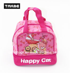 Cartoon Transparent PVC Printing Cooler Bag Lunch Bag for Children