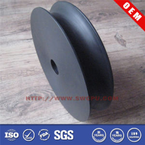 Customized OEM Bllack Rubber Pulley Wheel pictures & photos