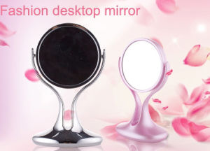2016 Hot Sales New Style Double Sided 5X Magnification Desktop Rotating Make up Mirror/Vanity Mirror pictures & photos