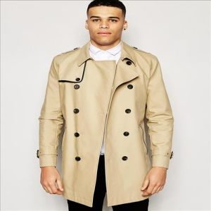 2016 Men′s Shower Resistant Double Breasted Trench Coat in Stone pictures & photos