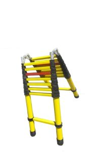 220kv 3m Yellow Fiberglass Double-Side Telescopic Ladder pictures & photos