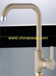 Granite Sink Mixer, Movable Spout, Beige (SW-09582-Q11) pictures & photos