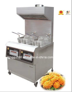 Fish and Chips Fryer Gas Deep Fryer with Range Hood