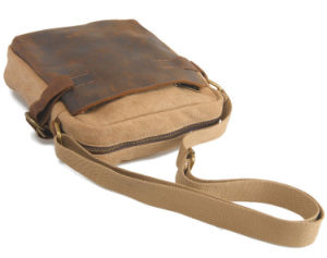 Real Leather Canvas iPad Leisure Shoulder Bag (RS-6881) pictures & photos