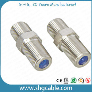 F Type Splice Adapter Connector for Coaxial Cable Rg59 RG6 (F-063) pictures & photos