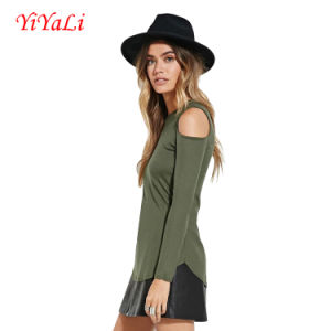 Women Wholesale Ol Style off Shoulder T-Shirts Long Sleeves Top
