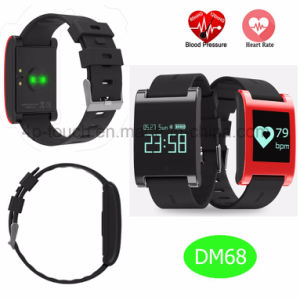 Bluetooth Smart Bracelet with Heart Rate Monitor and IP67 Waterproof DM68 pictures & photos