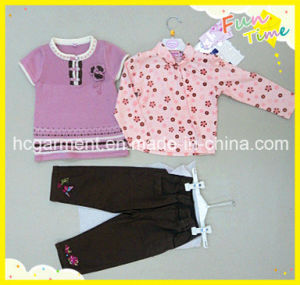 Kid Girl Children Sport Suit Baby Clothes Garment pictures & photos