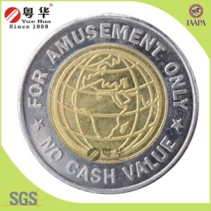 Wholesale Custom Market 2 Color Brass Token Coin pictures & photos