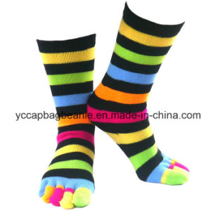 Cotton Cheap Custom Half Tube Five Open Toe Candy Socks pictures & photos
