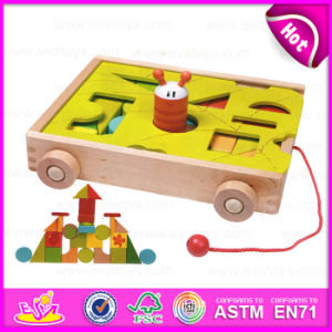 2015 Blocks Trolly Wooden Educational Toy for Kids, Wooden Building Blocks Sorter Trolly Toy, Pull Wooden Block Trolly Toy W13c021 pictures & photos