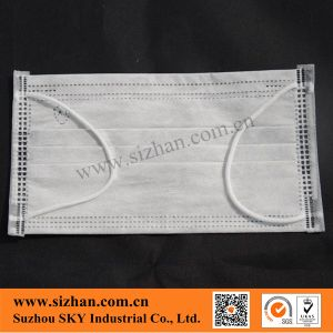 Disposable 17.5*9.5cm 4-Ply Non-Woven Active Carbon 50GSM Facemask pictures & photos