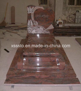 Multicolor Red Granite French Style Memorial Monument Tombstone for Cemetery pictures & photos