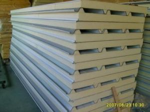 Top Selling PU Sandwich Panels for Prefab Steel Structural Building Material pictures & photos