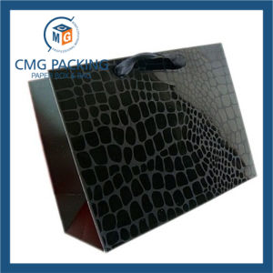 Luxury High Glossy Black Polish Surface Paper Hand Bag 9dm-Gpbb-189) pictures & photos
