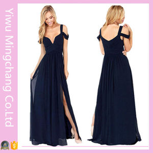 Plus Size Lady Sexy Spaghetti Strap Chiffon Prom Dress pictures & photos