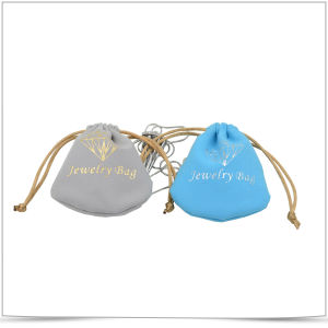 Customized Microfiber Both-Side Drawstring Jewelry Pouch pictures & photos