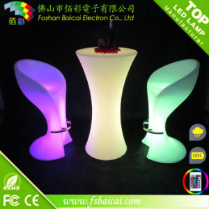 Round LED Bar Table Hotel Furniture for Event pictures & photos
