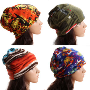 Lady Fashion Printed Cotton Knitted Winter Warm Ski Hats (YKY3138-1) pictures & photos